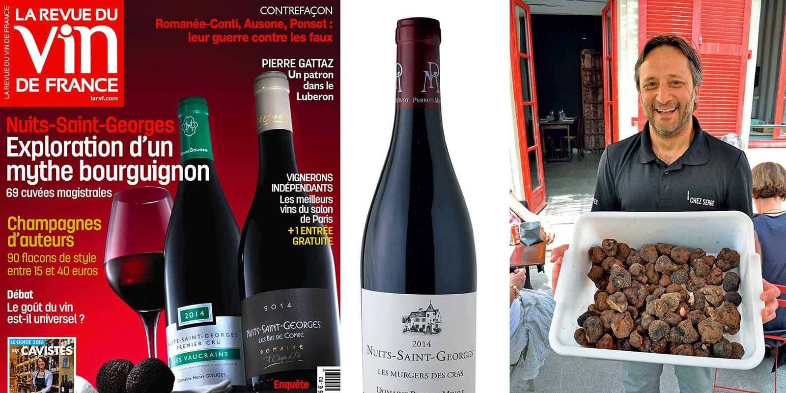 Couverture de la Revue du vin, Nathalie Baylaucq