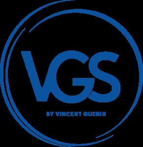 logo rond avec les lettres VGS by Vincent Guerin