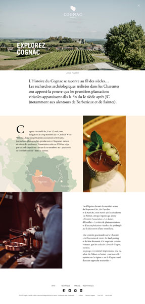 page gabarit cognac